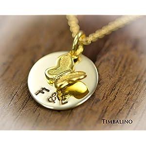 Namenskette, Gold 333, Goldanhänger, Schmetterling