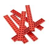 6 x Lego System Leiste Basic Bau Platte Stein rot 2x16 Set Star Wars 10240 7191 9497 10024 6776 3061 75913 428221 4282