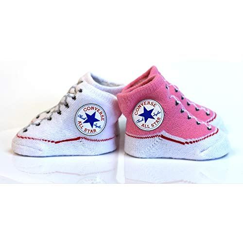 Converse 2 Pack Infant Booties - Chuck Pink -