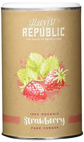 HARVEST REPUBLIC Bio-Fruchtpulver Erdbeere, 125 g, Für Erdbeer Shakes, Organic Food, Vegan