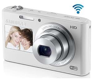 SAMSUNG DV150F - white + 16 GB microSDHC memory card - class 6 + TBC403K - Nylon case for digital photo camera / camcorder - black