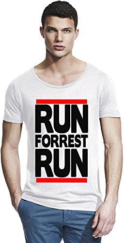 Run Forrest Run Funny Slogan Bamboo Wide Neck T-shirt X-Large