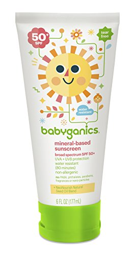 (6 to 7.9 Ounces, 180ml) - BabyGanics Sunscreen Lotion - 180ml -
