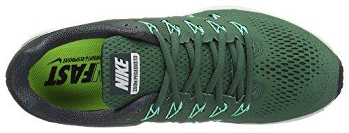 Nike Air Zoom Pegasus 33, Scarpe da Corsa Uomo Verde (Green Stone/Seaweed/Green Glow/White)