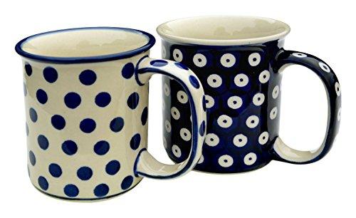 bunzlauer-keramik-manufaktura-becher-set-geradex2-2-bechern-gerade-kobaltblau-84-cm-2-einheiten
