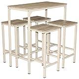 Mod. BRASIL Set Tisch und 4 Hocker Möbel Bar Küche