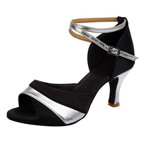 Luckycat Zapatos de tacón Alto de Baile de Salsa Latina para Mujer Rumba Zapatos de Baile de salón de Baile de vals de Vestir