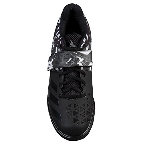 Adidas Powerlift 3 Unisex Weightlifting Shoes – Black/White – 8.5 UK