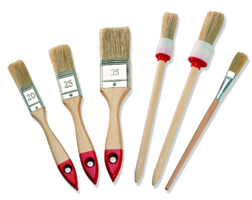 Color Expert Pinsel-Set, 6-teilig, helle Borste, 20/25 / 35 mm 82620599 -