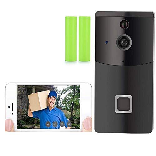 FDURU 720P HD WiFi Video Türklingel mit Kamera klingel haustür Batterien & Glockenspiel familienhaus Türsprechanlage zweiwegaudio IR 166 ° Weitwinkel-Nachtsicht (Haustür-kameras)