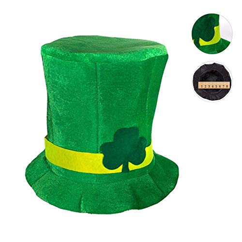 ehind St. Patricks Day Hut, Party Top Hat Kreative Klee Irish Day Hut Grüner Hut St. Patrick's Day Kostüm ()