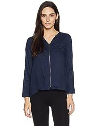Symbol Amazon Brand Women's Double Pocket Blouse Shirt