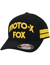 FOX RACING FLEXFIT - MOTO-X-FOX - HALL OF FAME - BLACK / YELLOW Größentabelle: L-XL (7 1/8 - 7 5/8)