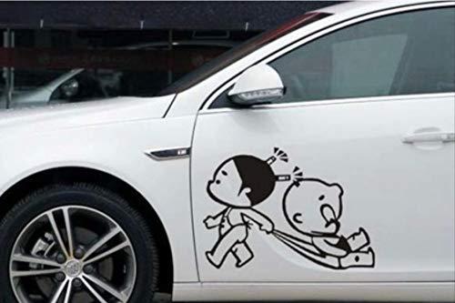 ecal Kreative Persönlichkeit Cartoon Anime Kinder Paar Tür Aufkleber Reflektierenden Aufkleber Küssen Funny Car Dekoration 38X27CM Eine 2PCS ()