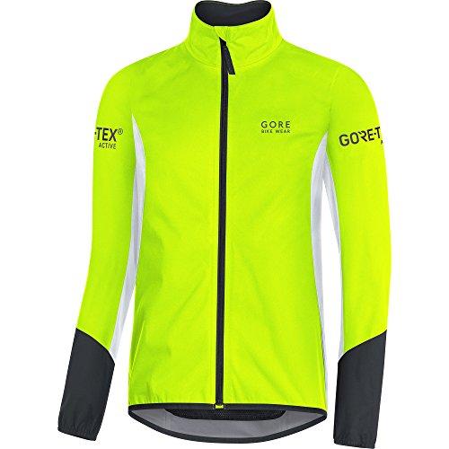 Gore Bike Wear Power Tex Chaqueta, Hombre, Amarillo Neón (Neon Yellow)/Blanco/Negro, S