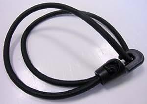 Gummispanner, Segeleinbinder - 100 STÜCK - 26,5 cm lang, 4 mm, schwarz, mit 1 Haken, endlos - 100er Pack