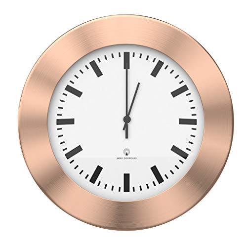 BonVivo The Classic Clock, Funkuhr, Wanduhr Lautlos Ohne Tickgeräusche, Küchenuhren Oder Wanduhr Fürs Wohnzimmer Und Büro Im Modernen Kuper-Look, Durchmesser 30 cm