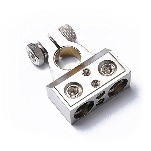 elegantstunning Doppeltes 1/0 & 8 Gauge Positiv oder Negativ Batterie Terminal Universal Anwendung Terminal 1/0 Gauge