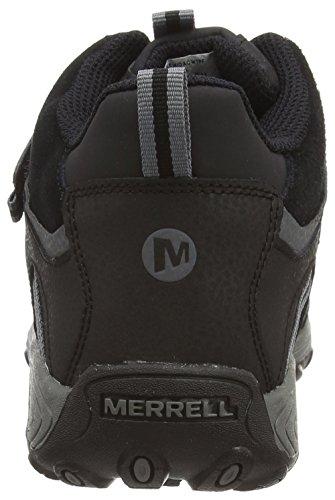 Merrell Chameleon Mid Trek Ac Wtpf, Jungen Outdoor Fitnessschuhe Schwarz (Black)