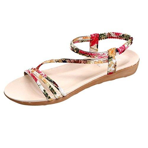 Ar Sandálias Bescita Mulheres Sapatos Livre toe Baixos Moda Peep Boemia Senhora Amarelas Lazer Ao 0HHw4q7r
