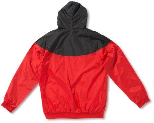 Urban Classics Herren Jacke Bekleidung Arrow Windrunner Mehrfarbig (Red/Blk 200)