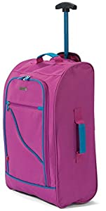 Lightweight Foldable Suitcase Wheeled Hand Luggage Holdall Case Bag Cabin Approved