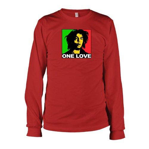 TEXLAB - Marley Love - Langarm T-Shirt Rot