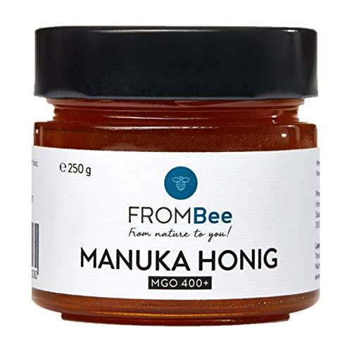 Frombee - Manuka Honig MGO 400+ aus Neuseeland - (1 x 250g) im Glas, 100% natürlich und rein