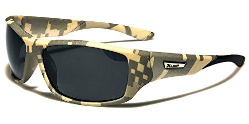 XLOOP Brille Sonnenbrille Radsport MTB Motorrad Tarnung Militärische Running / Biker Camo