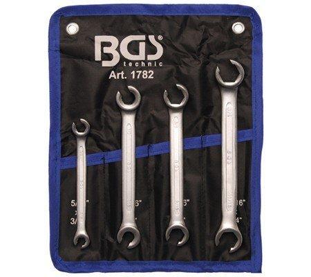 BGS 1782   Offener Doppel-Ringschlüssel-Satz   Zollgrößen   4-tlg.