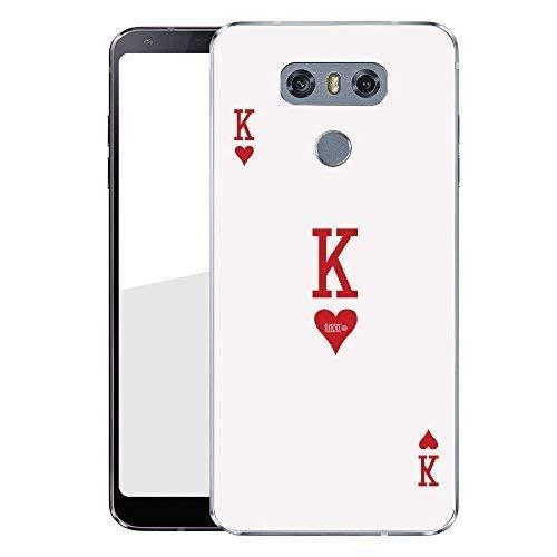 Finoo Hardcase Handyhülle für Dein LG G6 Made In Germany Hülle mit Motiv und Optimalen Schutz Tasche Case Cover Schutzhülle für Dein LG G6 - King Karte -
