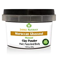 Jadole Naturals Moroccan Natural Rhassoul Clay Powder Ghassoul For Face Hair And Body 200 g, Pack of 1