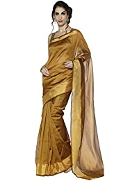 Sarvagny Women Clothing Cotton And Art Silk Dusty Color Daily Wear Saree With Blouse Piece