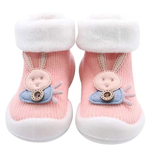 Chaussures Premiers Pas BéBé Fille Garçon Chaussettes de Noël Doux Souple Princesse, Binggong Chaussure Fille Père Noël Doux Sole Prewalker Chaussures de Maison antidérapantes pour BéBé 0-44mois