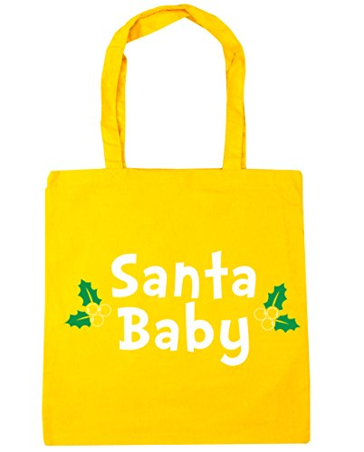 hippowarehouse Santa Tote Shopping Gym Beach Bag 42 cm 38 38, 10 Liter, gelb, One Size (Bell Von Santas Schlitten)