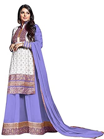 Vibes Pure Georgette Dress Material (V190-5707_Purple)