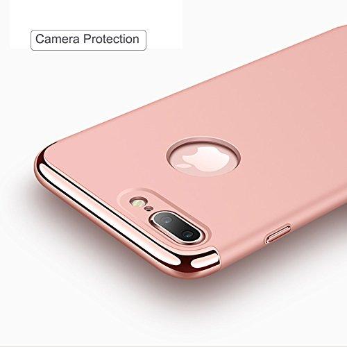 iPhone 7Plus Hülle Case Dünn Federleicht Handyhülle Hardcase Passgenau Schutzhülle Rosegold