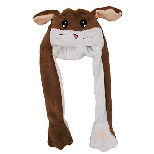 Kostüm Braune Eichhörnchen - sdtdia Lustige Tiere, die Ohren Hut Kaninchen Hut Fancy Dress weichen kurzen Plüsch Hut Spielzeug (braunes Eichhörnchen)