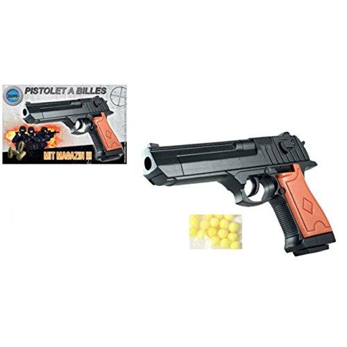 Softair-Pistole Softair-Waffe Air-Soft mit Munition schwarz braun 6 mm Federdruck ABS Kugel-Pistole Erbsen-Pistole Kinder-Pistole (Person Mehrere Kostüm)