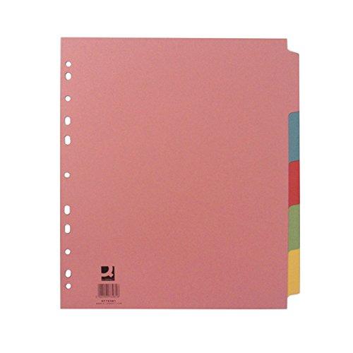5 separadores folios archivador Q-Connect tamaño