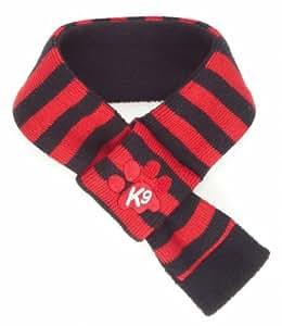 K9 Stripe Dog Scarf, Red/ Black, Xtra Small