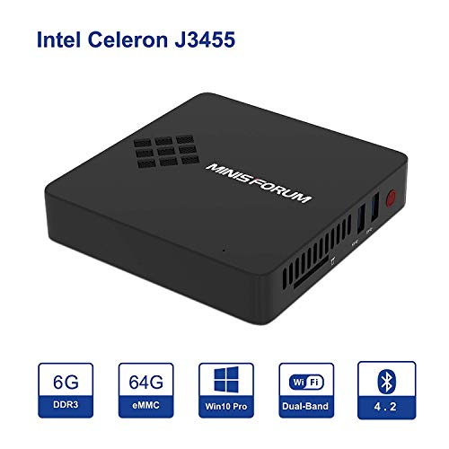 gn34 mini pc desktop windows 10 pro 6gb ram 64gb emmc/intel apollo lake celeron j3455 (2m cache, up to 2.3 ghz)/ diy ssd/ 4k hd/hdmi&vga outputs/ 2.4g+5g wifi/bt 4.2/ 1000mbps lan/ 3xusb 3.0