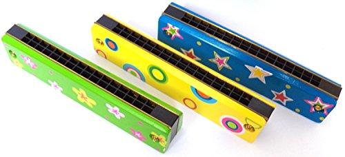 Michel Toys Holz-Mundharmonika für Kinder, verschieden Farben, nicht wählbar