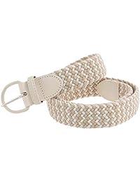 Huixin Cinturón Elástico De Ner Pin De Los Regalos Elegante Elástico  Cinturón Señora Hombres Lienzo Tejido Cinturón Casual Juvenil Cinturón… 54c06d64d029