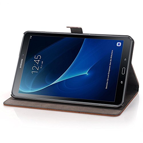 Samsung Galaxy Tab A 10.1 Fall, TechCode® PU LUXUS LEDER HÜLLE Für Samsung Galaxy Tab A 25,7 cm (2016 Version sm-t580 N sm-t585 N) – mit integriertem Ständer/Smart Cover Auto Wake & Sleep - 5