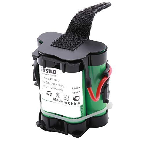 INTENSILO Batería Li-Ion 2500mAh (18V) para Robot cortacésped Husqvarna Automower 105, 305, 308, 308x reemplaza 574 47 68-01.