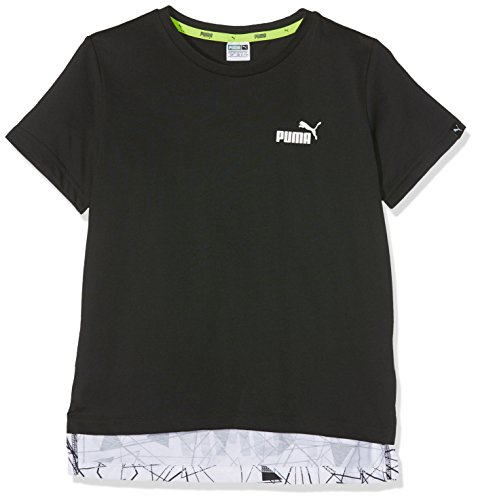 Puma Kinder Sports Style Allover Tee T-Shirt, Mehrfarbig