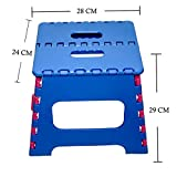 #6: Maa Bhagwati High Quality Foldable Stool for Stepping up Or Sitting, Foldable Pick N Move Stool (29x28x24cm) (Blue+Pink)