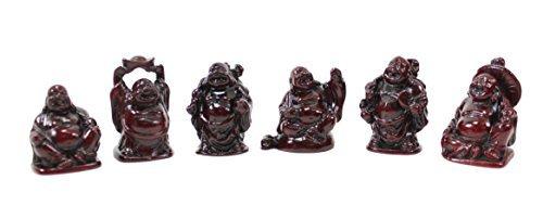 Set von 6Feng Shui 5,1cm rot Happy Lachender Buddha Statuen Figuren Geschenk uns Verkäufer - Buddha-statue In Japan