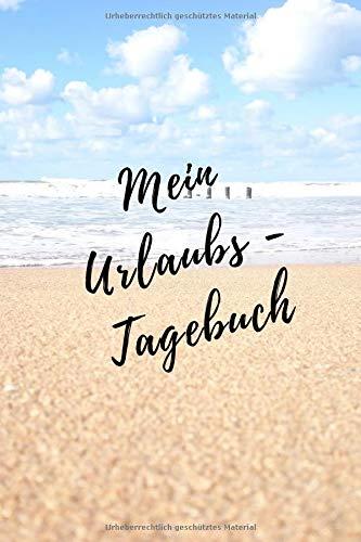 Mein Urlaubs - Tagebuch: Notizbuch A5 kariert (6x9) für die Reise, den Strand-Urlaub / modisches Tagebuch und Logbuch 108 Seiten